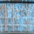 Abstract background texture with old blue concrete fence segment — Stock Photo