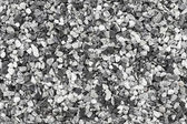 Seamless background photo texture of black and white gravel — Stock Photo