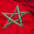 National flag of Morocco. Green star on red background — Stock Photo