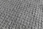 Background photo texture. Granite cobblestone road pavement pattern — Photo