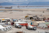 TANGER, MOROCCO - MARCH 28, 2014: New terminals area under construction in Port Tanger-Med 2. The Tangier-Med Project will contain the biggest port in Africa — ストック写真