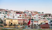 TANGIER, MOROCCO - MARCH 21, 2014: Street view with traditional  — Stock Photo