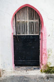 Old closed metal door in Medina, Tangier, Morocco — Stock Photo