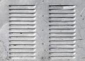 Achtergrond met glanzende metalen rooster luchtverdeelsystemen — Stockfoto