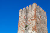 Ancient fort tower in Tangier town, Morocco — Stock Photo