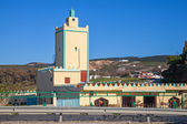Modern yellow mosque building. Tangier town, Morocco — Stock Photo