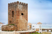 Ancient fortress tower in Tangier town, Morocco — Stock Photo