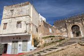 Ancient fortress and living houses. Madina, old part of Tangier, — Stock Photo