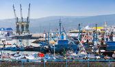 Tangeri, Marocco - 22 marzo 2014: frammento colorato di porto vecchio — Foto Stock