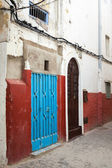 Colorful street fragment. Medina, historical part of Tangier, Morocco — Stock Photo