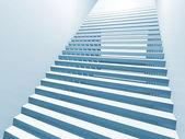 Abstrakt vit 3d interiör bakgrund med trappa — Stockfoto