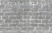 Gray wall made of aerated concrete blocks. Seamless background texture — Stock Photo