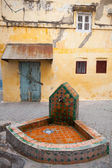 Public faucet in old Medina. Historical center of Tangier, Morocco — Stock Photo