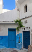 Street view of old Medina. Historical center of Tangier, Morocco — Stock Photo