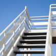Perspective of white stairway to the captain bridge — Stock Photo #47159073