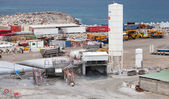 New terminals area under construction in Port Tanger-Med 2 — Stock Photo