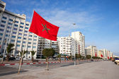 Avenue Mohammed VI in new part of Tangier, Morocco — Stock Photo