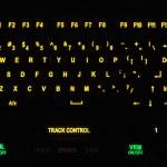 Fragment of illuminated industrial keyboard in the dark — Stock Photo #47959173