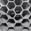 Abstract gray concrete interior with honeycomb structure — Stock Photo #48113911