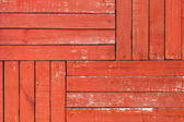 Red wooden wall pattern, background texture — Stockfoto