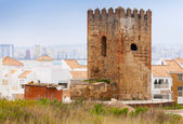 Ancient brick fortress tower in Tangier town, Morocco — Stock Photo