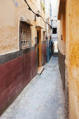 Colorful street fragmet in Medina. Historical center of Tanger, Morocco — Stock Photo