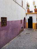 Narrow street fragmet in Medina. Historical center of Tanger, Morocco — Stock Photo