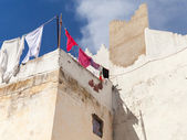 White houses and blue sky. Madina, old Tangier, Morocco — Stock Photo