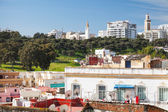 Ordinary living houses and mosques. Cityscape of Tangier, Morocco — Stock Photo