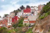Tangier, Morocco. Old colorful living houses in Medina — Stock Photo