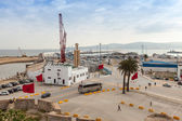 TANGIER, MOROCCO - MARCH 22, 2014: New passenger terminals under construction in Port of Tangier, Africa — Stock Photo