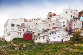 Tangier, Morocco. Old white living houses in Medina — Stok fotoğraf