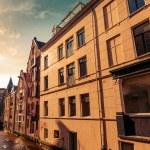 Street view of Amsterdam, Netherlands. Stylized photo — Stock Photo #49031731