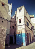 Narrow streets of old Medina of Tangier, Morocco. Instagram Effect — Stock Photo