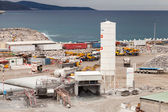 TANGER, MOROCCO - MARCH 28, 2014: New terminals area under construction, Port Tanger-Med 2. It will be the biggest port in Africa — Stock Photo