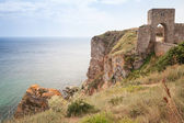 Ancient fortress on Kaliakra headland, Bulgarian Black Sea Coast — Stock Photo
