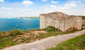 Bulgarian Black Sea Coast. Ancient fortress on Kaliakra headland — Stock Photo