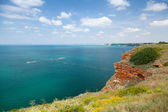 Bulgaria, Black Sea Coast. Panoramic landscape of Kaliakra headland — Stock Photo