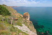 Rocky coast of Kaliakra headland, Bulgaria, Black Sea Coast — Stock Photo