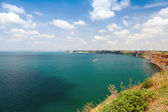 Kaliakra headland panoramic landscape, Bulgarian Black Sea Coast — Stock Photo