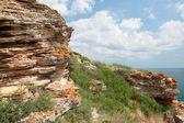 Stones of Kaliakra headland, Bulgarian Black Sea Coast — Stock Photo