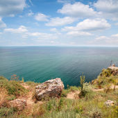 Coast of Kaliakra headland, Bulgarian Black Sea Coast — Stock Photo