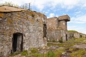 Old concrete bunker from WWII period on Totleben island — Stock Photo