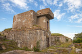 Old concrete bunker from WWII period on Totleben fort island — Stock Photo