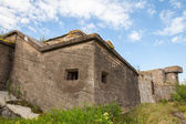 Old concrete bunkers on Totleben fort island in Russia — Stock Photo