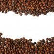 Coffee beans isolated on white background with — Stockfoto