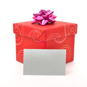 Red gift box — Photo