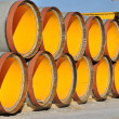 Stack of pipes of the big diameter - Stock Photo