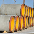 Stack of pipes of the big diameter — Stock Photo