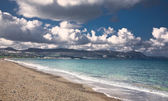 Sea sand and clouds — Stock Photo